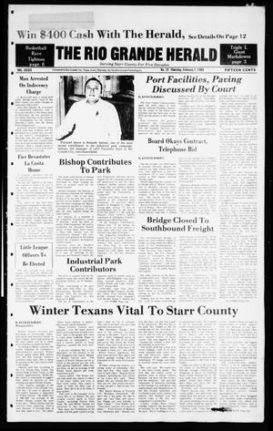 Primary view of object titled 'The Rio Grande Herald (Rio Grande City, Tex.), Vol. 39, No. 15, Ed. 1 Thursday, February 7, 1985'.