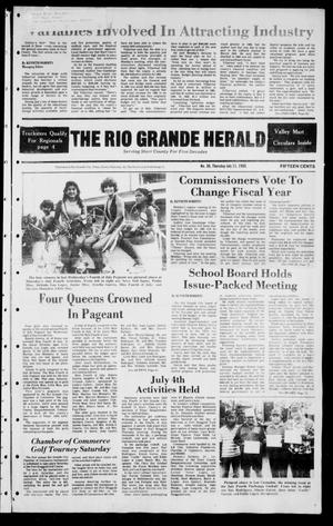 Primary view of object titled 'The Rio Grande Herald (Rio Grande City, Tex.), Vol. 39, No. 36, Ed. 1 Thursday, July 11, 1985'.