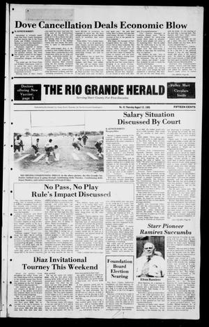 Primary view of object titled 'The Rio Grande Herald (Rio Grande City, Tex.), Vol. 39, No. 41, Ed. 1 Thursday, August 15, 1985'.
