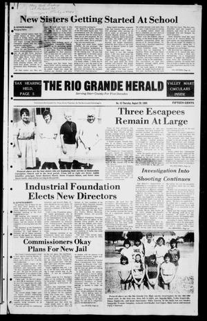 Primary view of object titled 'The Rio Grande Herald (Rio Grande City, Tex.), Vol. 39, No. 43, Ed. 1 Thursday, August 29, 1985'.