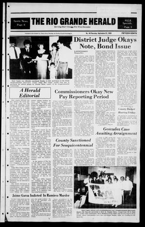 Primary view of object titled 'The Rio Grande Herald (Rio Grande City, Tex.), Vol. 39, No. 46, Ed. 1 Thursday, September 19, 1985'.