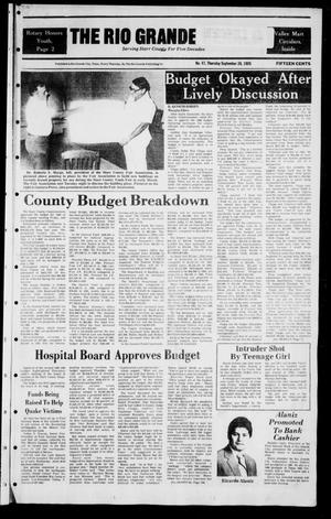 Primary view of object titled 'The Rio Grande Herald (Rio Grande City, Tex.), Vol. 39, No. 47, Ed. 1 Thursday, September 26, 1985'.