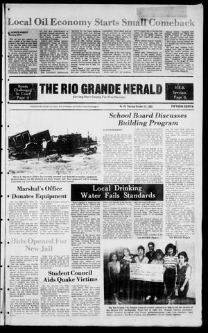 Primary view of object titled 'The Rio Grande Herald (Rio Grande City, Tex.), Vol. 39, No. 49, Ed. 1 Thursday, October 10, 1985'.