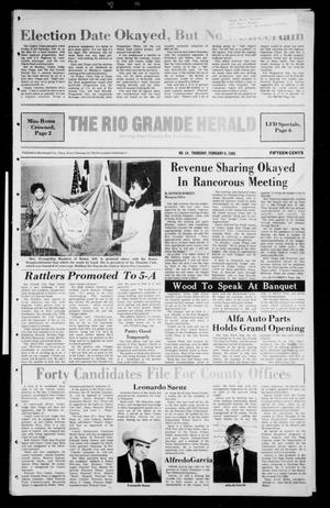 Primary view of object titled 'The Rio Grande Herald (Rio Grande City, Tex.), Vol. 40, No. 14, Ed. 1 Thursday, February 6, 1986'.