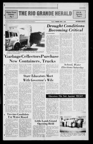 Primary view of object titled 'The Rio Grande Herald (Rio Grande City, Tex.), Vol. 40, No. 23, Ed. 1 Thursday, April 3, 1986'.