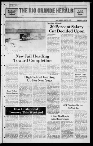 Primary view of object titled 'The Rio Grande Herald (Rio Grande City, Tex.), Vol. 40, No. 42, Ed. 1 Thursday, August 14, 1986'.