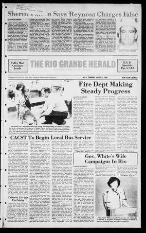 Primary view of object titled 'The Rio Grande Herald (Rio Grande City, Tex.), Vol. 40, No. 44, Ed. 1 Thursday, August 28, 1986'.