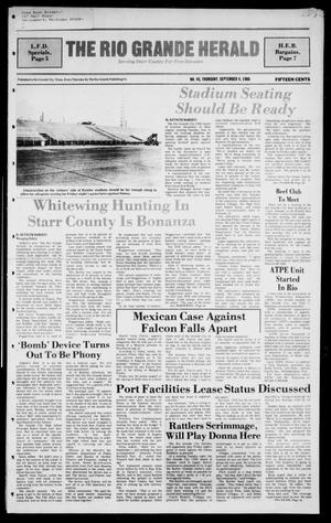 Primary view of object titled 'The Rio Grande Herald (Rio Grande City, Tex.), Vol. 40, No. 45, Ed. 1 Thursday, September 4, 1986'.
