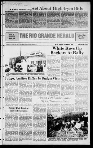 Primary view of object titled 'The Rio Grande Herald (Rio Grande City, Tex.), Vol. 40, No. 48, Ed. 1 Thursday, September 25, 1986'.