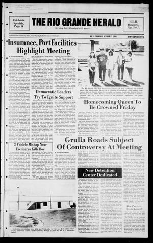 Primary view of object titled 'The Rio Grande Herald (Rio Grande City, Tex.), Vol. 40, No. 52, Ed. 1 Thursday, October 23, 1986'.