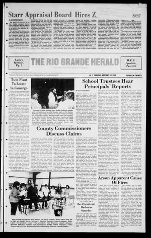 Primary view of object titled 'The Rio Grande Herald (Rio Grande City, Tex.), Vol. 41, No. 3, Ed. 1 Thursday, November 13, 1986'.