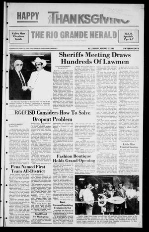 Primary view of object titled 'The Rio Grande Herald (Rio Grande City, Tex.), Vol. 41, No. 5, Ed. 1 Thursday, November 27, 1986'.