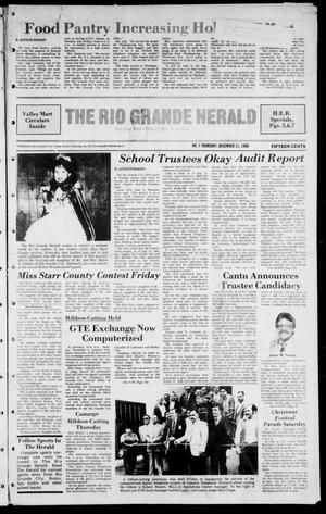 Primary view of object titled 'The Rio Grande Herald (Rio Grande City, Tex.), Vol. 41, No. 7, Ed. 1 Thursday, December 11, 1986'.