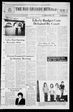 Primary view of object titled 'The Rio Grande Herald (Rio Grande City, Tex.), No. 12, Ed. 1 Thursday, January 15, 1987'.