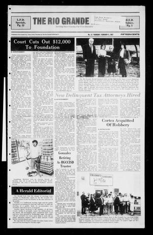 Primary view of object titled 'The Rio Grande Herald (Rio Grande City, Tex.), No. 15, Ed. 1 Thursday, February 5, 1987'.