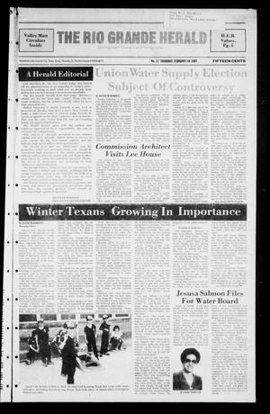 Primary view of object titled 'The Rio Grande Herald (Rio Grande City, Tex.), No. 17, Ed. 1 Thursday, February 19, 1987'.