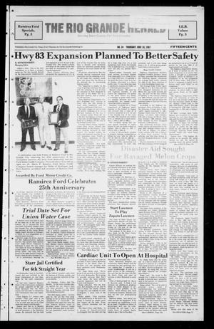Primary view of object titled 'The Rio Grande Herald (Rio Grande City, Tex.), No. 34, Ed. 1 Thursday, June 18, 1987'.