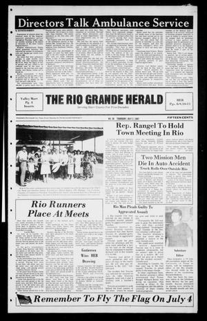Primary view of object titled 'The Rio Grande Herald (Rio Grande City, Tex.), No. 36, Ed. 1 Thursday, July 2, 1987'.