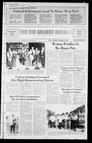 Primary view of object titled 'The Rio Grande Herald (Rio Grande City, Tex.), No. 50, Ed. 1 Thursday, October 22, 1987'.