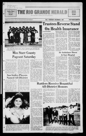 Primary view of object titled 'The Rio Grande Herald (Rio Grande City, Tex.), No. 4, Ed. 1 Thursday, December 3, 1987'.
