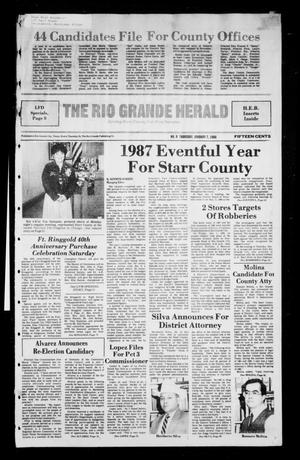 Primary view of object titled 'The Rio Grande Herald (Rio Grande City, Tex.), No. 9, Ed. 1 Thursday, January 7, 1988'.