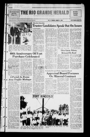 Primary view of object titled 'The Rio Grande Herald (Rio Grande City, Tex.), No. 10, Ed. 1 Thursday, January 14, 1988'.