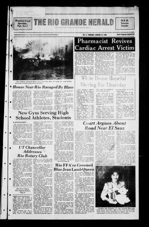 Primary view of object titled 'The Rio Grande Herald (Rio Grande City, Tex.), No. 12, Ed. 1 Thursday, January 28, 1988'.