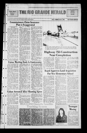 Primary view of object titled 'The Rio Grande Herald (Rio Grande City, Tex.), No. 36, Ed. 1 Thursday, July 14, 1988'.