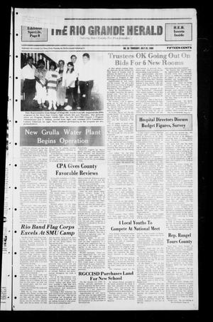 Primary view of object titled 'The Rio Grande Herald (Rio Grande City, Tex.), No. 38, Ed. 1 Thursday, July 28, 1988'.
