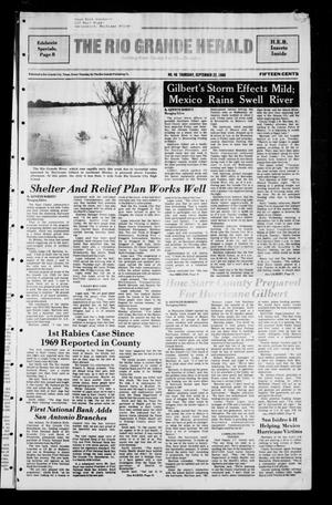 Primary view of object titled 'The Rio Grande Herald (Rio Grande City, Tex.), No. 46, Ed. 1 Thursday, September 22, 1988'.