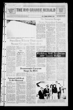 Primary view of object titled 'The Rio Grande Herald (Rio Grande City, Tex.), No. 47, Ed. 1 Thursday, September 29, 1988'.