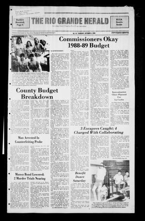 Primary view of object titled 'The Rio Grande Herald (Rio Grande City, Tex.), No. 48, Ed. 1 Thursday, October 6, 1988'.