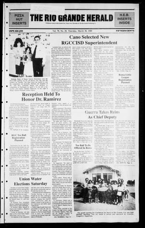Primary view of object titled 'The Rio Grande Herald (Rio Grande City, Tex.), Vol. 79, No. 20, Ed. 1 Thursday, March 30, 1989'.