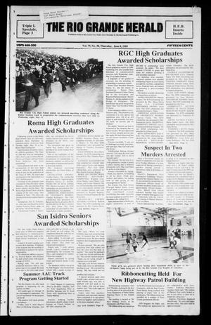 Primary view of object titled 'The Rio Grande Herald (Rio Grande City, Tex.), Vol. 79, No. 30, Ed. 1 Thursday, June 8, 1989'.