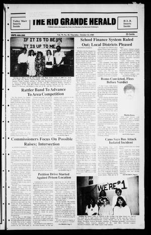 Primary view of object titled 'The Rio Grande Herald (Rio Grande City, Tex.), Vol. 79, No. 48, Ed. 1 Thursday, October 12, 1989'.