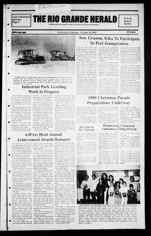 Primary view of object titled 'The Rio Grande Herald (Rio Grande City, Tex.), Vol. 80, No. 2, Ed. 1 Thursday, November 30, 1989'.