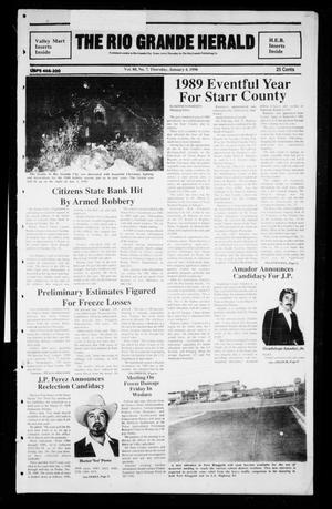 Primary view of object titled 'The Rio Grande Herald (Rio Grande City, Tex.), Vol. 80, No. 7, Ed. 1 Thursday, January 4, 1990'.