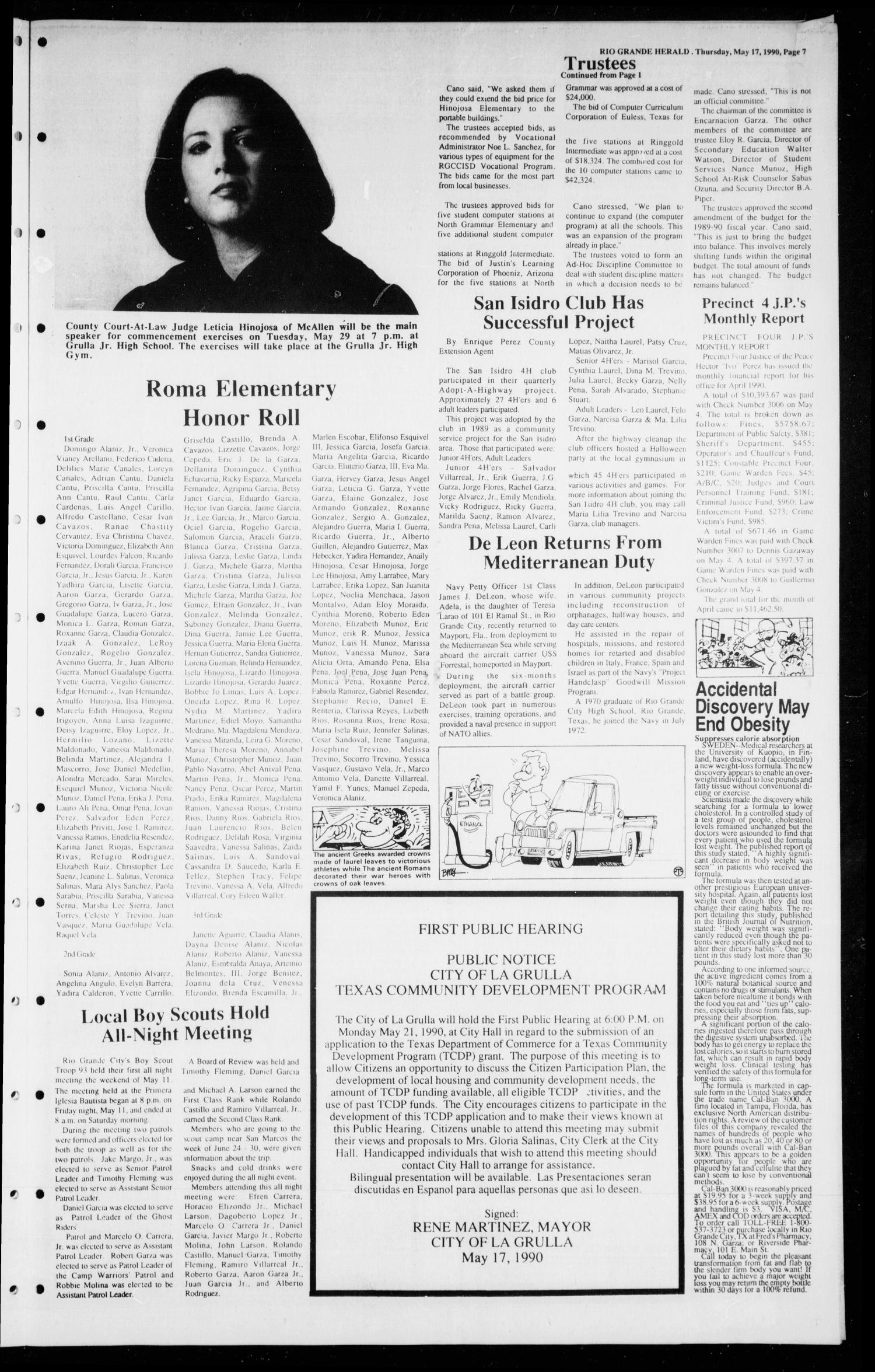 the rio grande herald rio grande city tex vol no ed the rio grande herald rio grande city tex vol 80 no 25 ed 1 thursday 17 1990 page 7 of 10 the portal to texas history