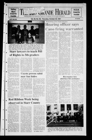 Primary view of object titled 'The Rio Grande Herald (Rio Grande City, Tex.), Vol. 80, No. 98, Ed. 1 Thursday, October 24, 1991'.
