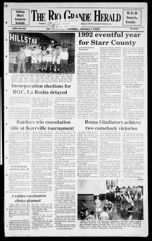 Primary view of object titled 'Rio Grande Herald (Rio Grande City, Tex.), Vol. 81, No. 1, Ed. 1 Thursday, January 7, 1993'.