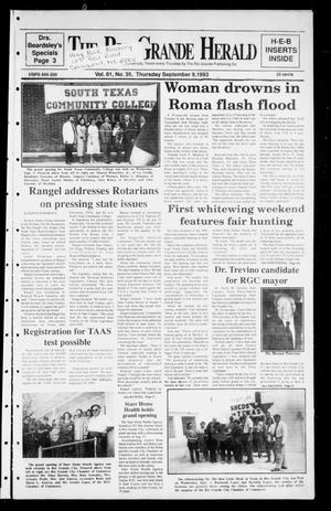 Rio Grande Herald (Rio Grande City, Tex.), Vol. 81, No. 35, Ed. 1 Thursday, September 9, 1993