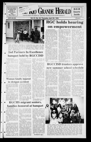 Primary view of object titled 'Rio Grande Herald (Rio Grande City, Tex.), Vol. 81, No. 23, Ed. 1 Thursday, April 28, 1994'.