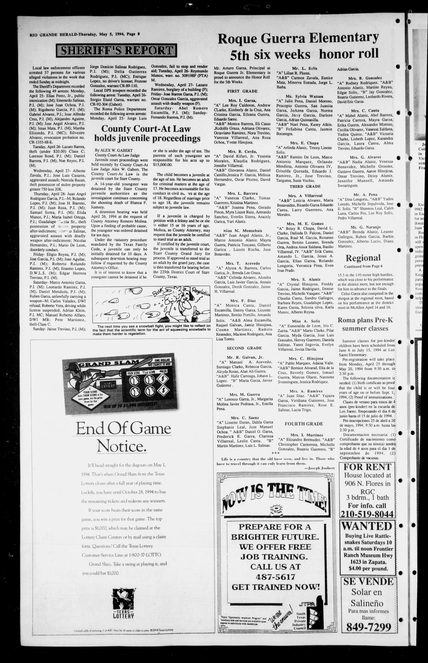 Rio Grande Herald (Rio Grande City, Tex.), Vol. 81, No. 24, Ed. 1 ...