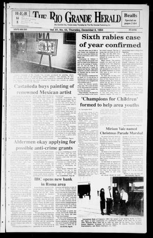 Primary view of object titled 'Rio Grande Herald (Rio Grande City, Tex.), Vol. 81, No. 55, Ed. 1 Thursday, December 8, 1994'.