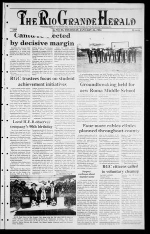 Primary view of object titled 'Rio Grande Herald (Rio Grande City, Tex.), Vol. 82, No. 4, Ed. 1 Thursday, January 26, 1995'.