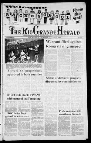 Primary view of object titled 'Rio Grande Herald (Rio Grande City, Tex.), Vol. 82, No. 33, Ed. 1 Thursday, August 17, 1995'.