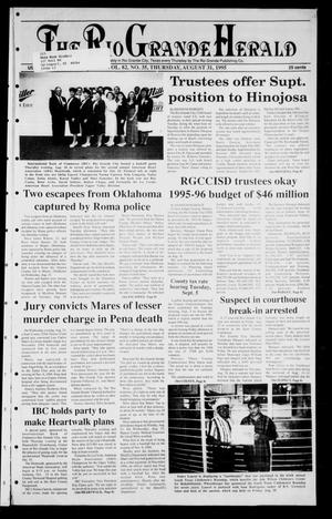 Primary view of object titled 'Rio Grande Herald (Rio Grande City, Tex.), Vol. 82, No. 35, Ed. 1 Thursday, August 31, 1995'.