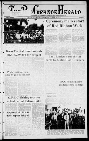 Primary view of object titled 'Rio Grande Herald (Rio Grande City, Tex.), Vol. 82, No. 43, Ed. 1 Thursday, October 26, 1995'.