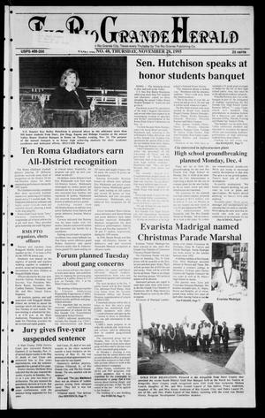 Primary view of Rio Grande Herald (Rio Grande City, Tex.), Vol. 82, No. 48, Ed. 1 Thursday, November 30, 1995