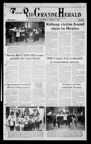 Primary view of object titled 'Rio Grande Herald (Rio Grande City, Tex.), Vol. 83, No. 10, Ed. 1 Thursday, March 7, 1996'.